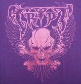 "HBC/""Wing Skull"" Tee (Purple x Metalic Pink)"