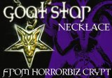 HORRORBIZ CRYPT Original Silver Accessory 04/ Goat Star Necklace