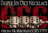 HBC Original Silver Accessory 03/ Triple Six Dice NECKLACE/ Size:S(3mm ballchain/40cm)