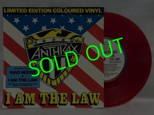 画像1: ANTHRAX/ I AM THE LAW(Limited Clear Red Vinyl)[7'']