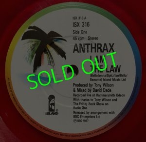 画像3: ANTHRAX/ I AM THE LAW(Limited Clear Red Vinyl)[7'']