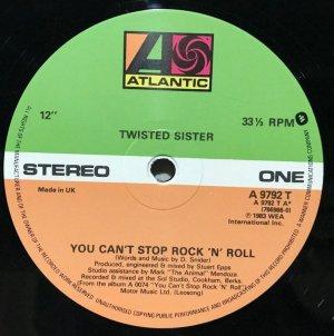画像2: TWISTED SISTER/ You Can't Stop Rock 'n' Roll[12'']