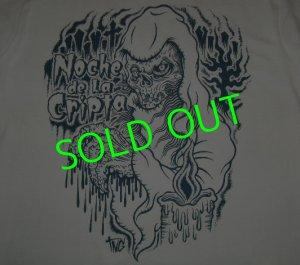 """画像1: ☆50%OFF☆HBC/""""Noche de la Cripta""""T-Shirt (White x Indigo)"""