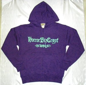"画像1: HBC/ ""DICE LOGO"" Sweat Zip Parka (Deep Purple x Green)"